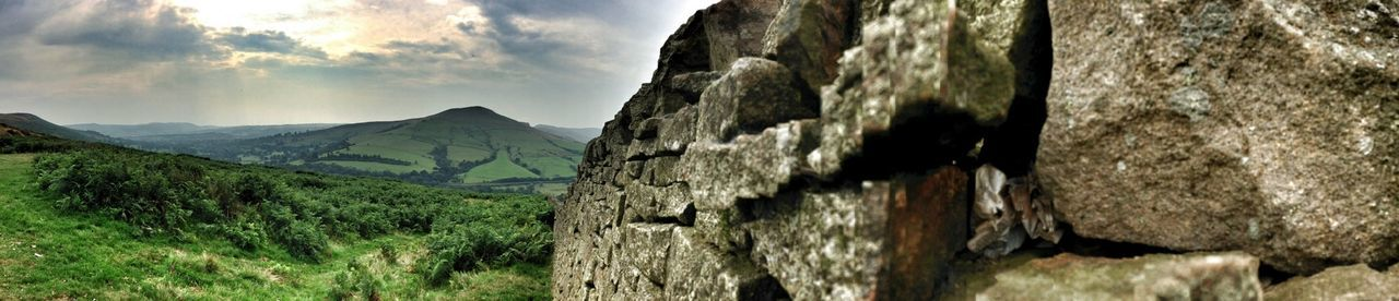 The only thing this view needed today was 'Jerusalem' Peak District  Panoramic Things That Are Green