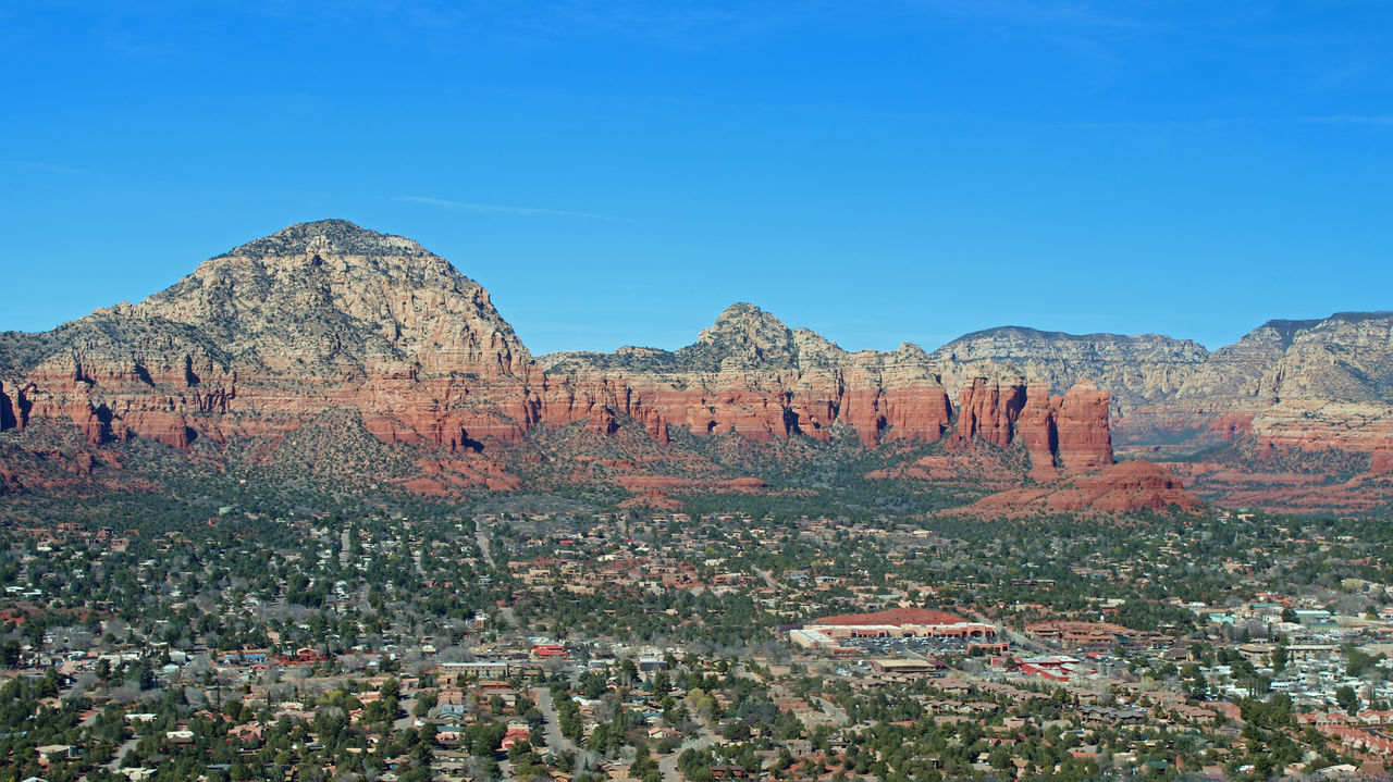 Sedona Landscape Arid Climate Beauty In Nature Blue Clear Sky Day Geology Landscape Mountain Nature No People Outdoors Physical Geography Rock - Object Rock Formation Scenics Sky Tranquil Scene Tranquility Travel Destinations