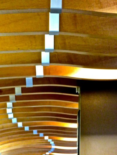 All In A Row Ceiling Detail Indoors  Looking Up Order Pattern Repetition Store Decor Wood