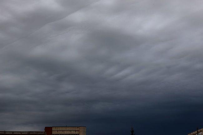 Томск небо облака серый