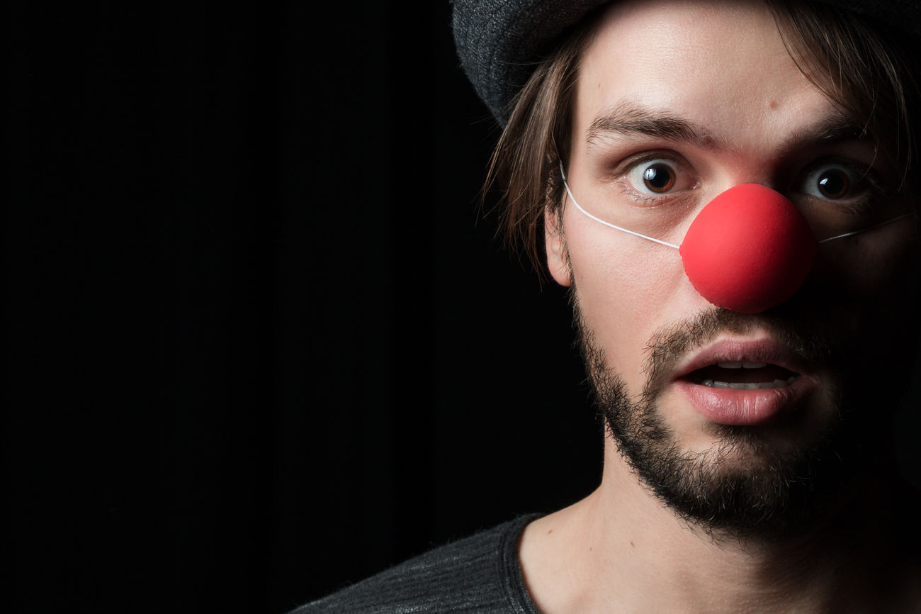 Beautiful stock photos of clown, looking at camera, human face, close-up, headshot