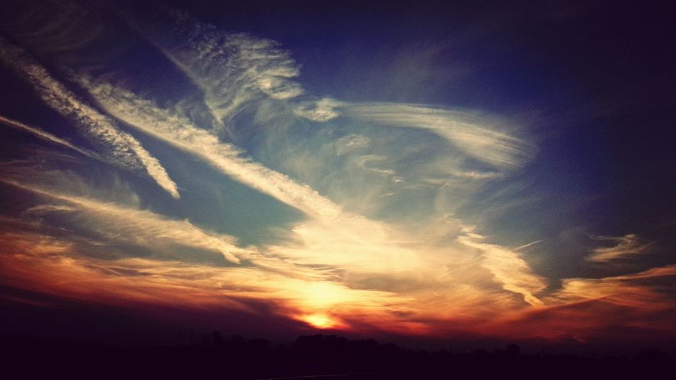 rakugakki Clouds And Sky Sunset Art Gyoda