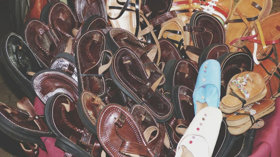Large Group Of Objects Close-up Backgrounds Full Frame Sandals Leader Sandals ,  No People