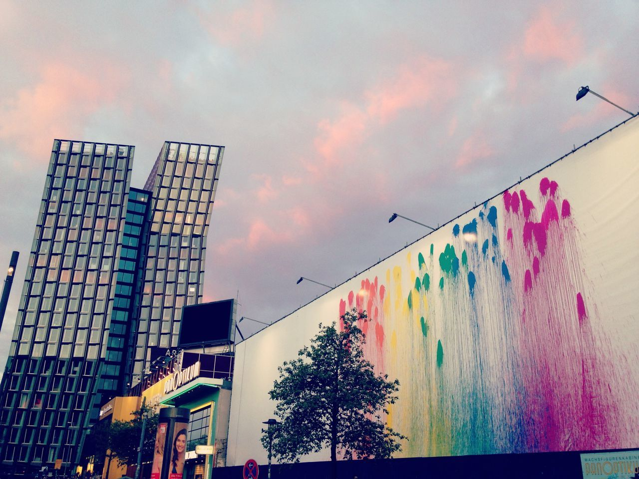 Architecture Building Exterior Built Structure City Cloud - Sky Day Germany Hamburg Low Angle View Mobile Photography Modern Multi Colored No People Outdoors Reeperbahn  Sky Smartphone Photography Spielbudenplatz St. Pauli The Week Of Eyeem Tree