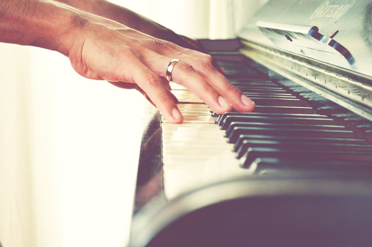 Piano Music Piano Key Musical Instrument Human Hand Human Body Part Pianist Indoors  Musician People EyeEmNewHere Hands Ring