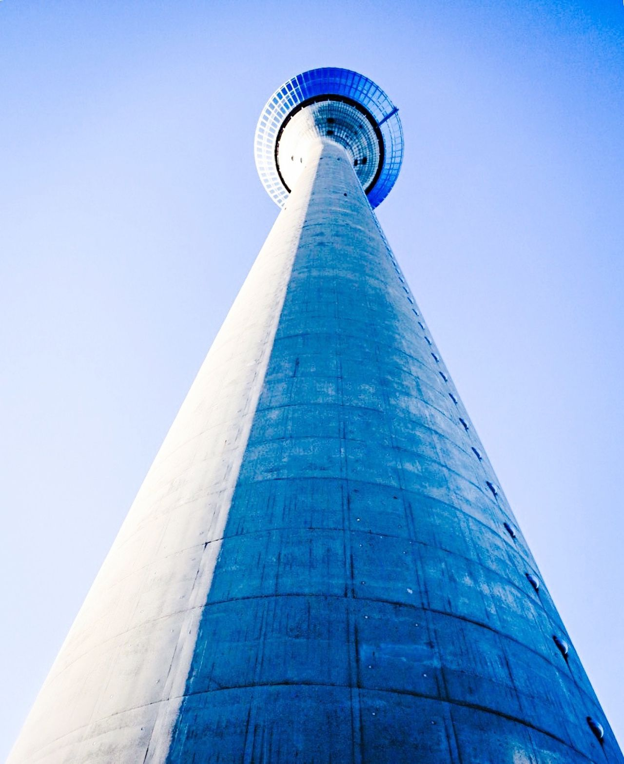TV Tower Television Tower Built Structure Modern Tower Blue Sky Blue Building Exterior Day Travel Architecture City Sky Outdoors Tourism Germany Adapted To The City
