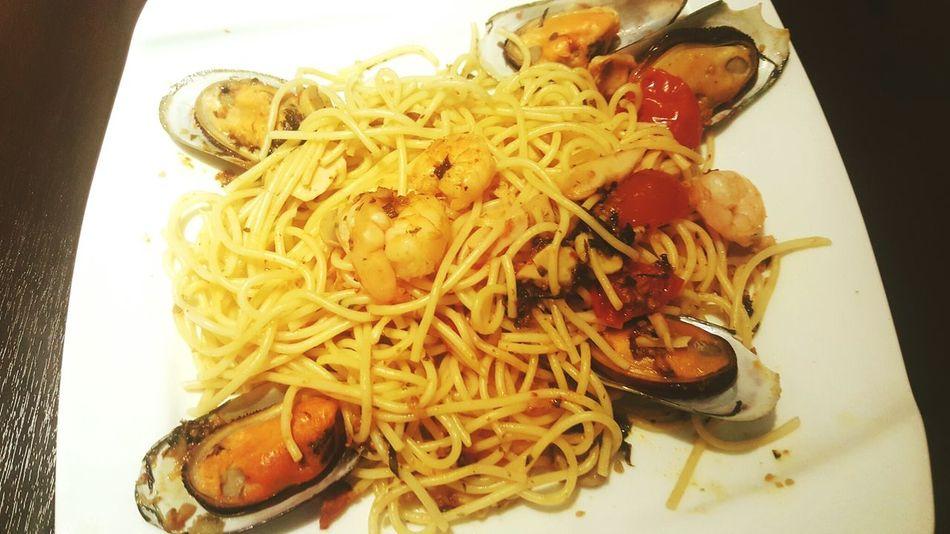 Yummy Fancy Dinner Seafood Spagetti Secret Recipe First Eyeem Photo