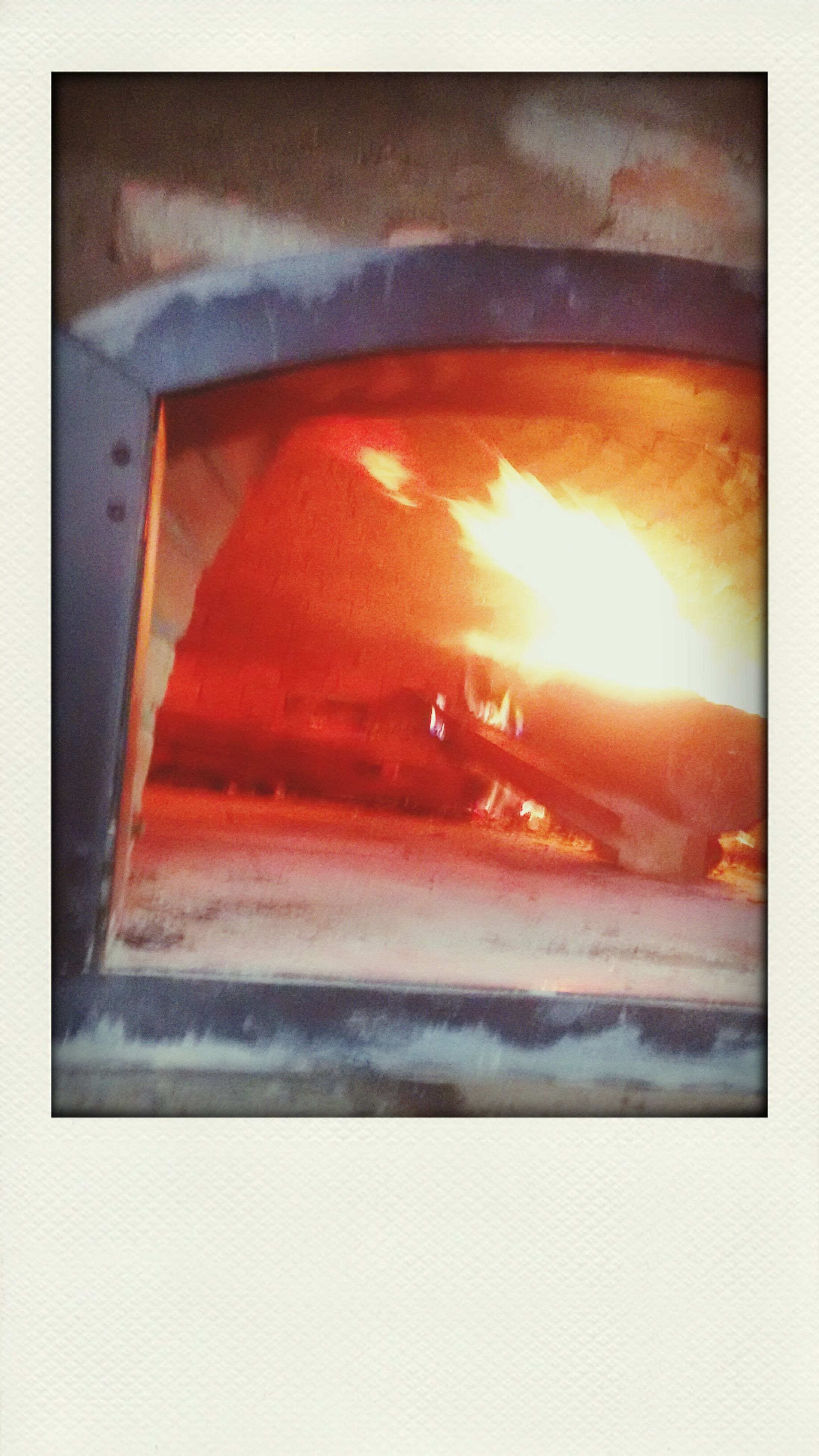 transfer print, auto post production filter, orange color, heat - temperature, flame, red, sunset, no people, close-up, burning, sun, glowing, fire - natural phenomenon, outdoors, sky, sunlight, high angle view, built structure, cold temperature