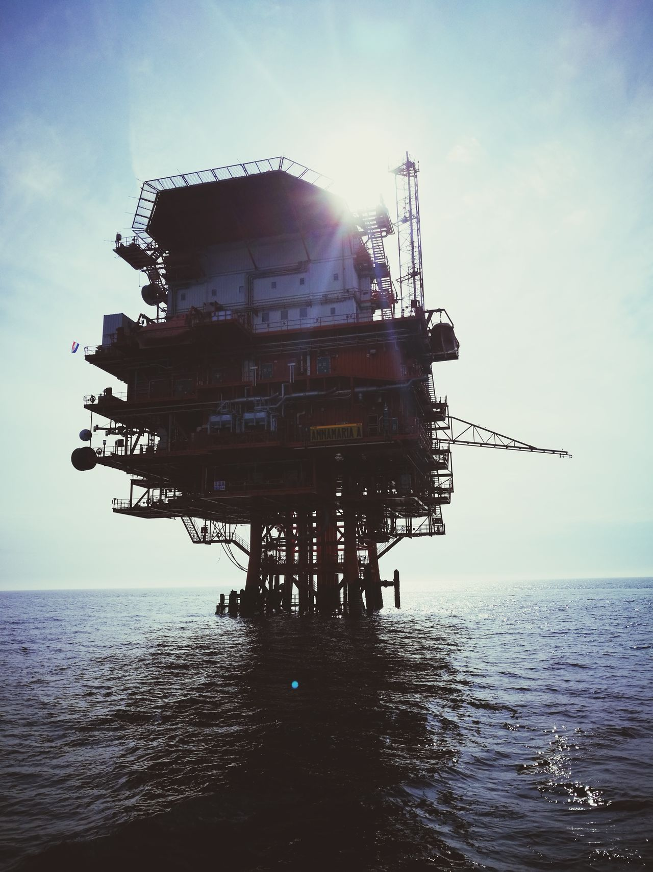Offshore Platform Gas Oil Industry Adriatic Sea Adriatic FreshonEyeem Oil Industry Croatia Fresh On Eyeem  Day Beauty In Nature Horizon Over Water No People Outdoors Sky Nature Business Finance And Industry Environment Water Oil&water Sea Oil&gas