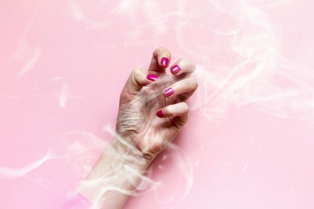 Pink Color Human Body Part One Person Only Women People One Woman Only Adult Pink Background Adults Only Close-up Smoke Smoked Out Atmosphere Communication Hand Arm Smokey Body Language One Hand Human Hand Powerful Power Fingers Nails Woman Hand BYOPaper! EyeEm Selects Studio Shot Nail Polish Indoors