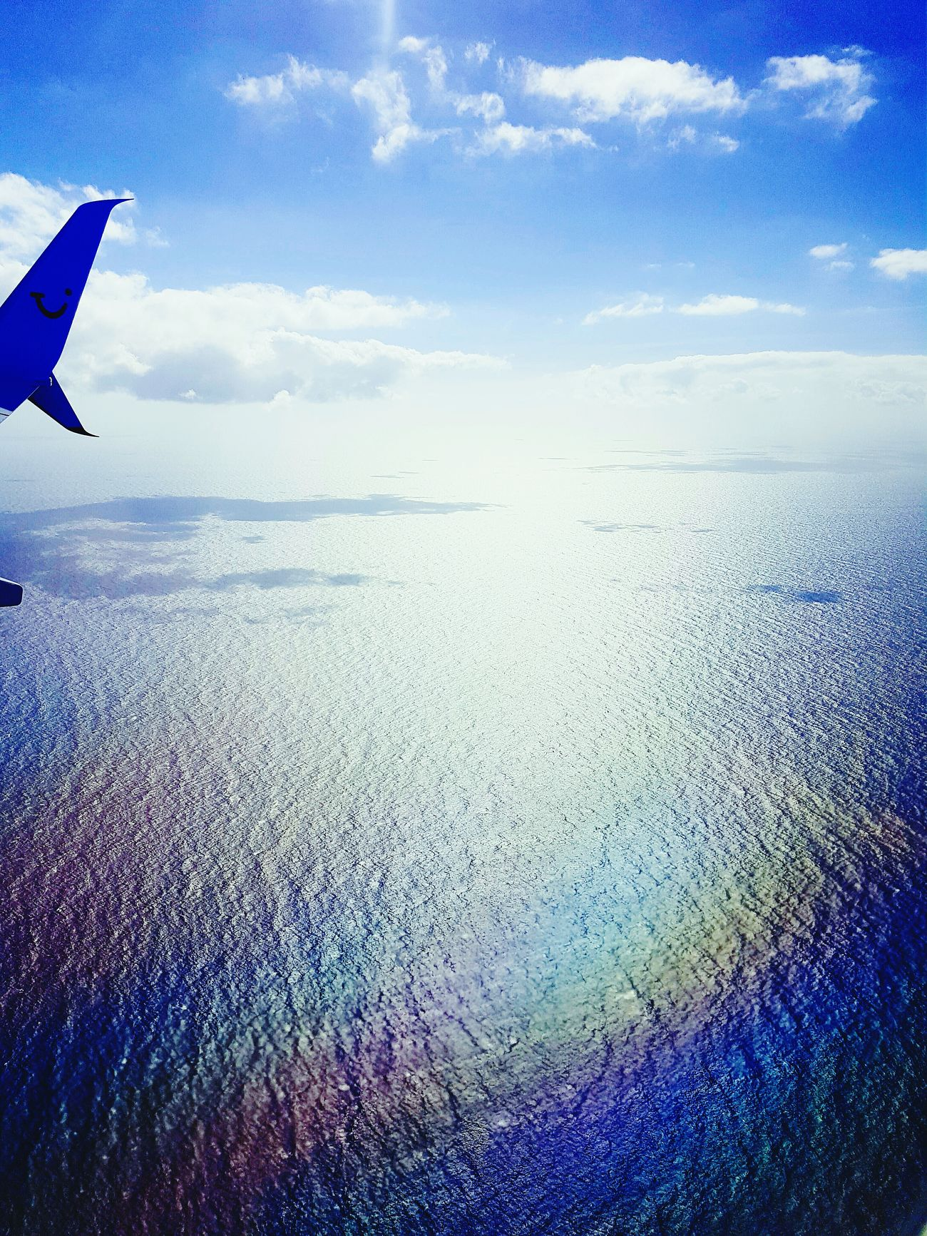 What a wonderful view! Holiday Trip Airplane Sky Ocean View