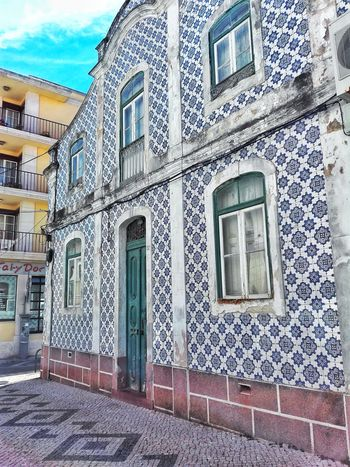 Architecture Built Structure Day Window Building Exterior Outdoors No People Sky Figueira Da Foz, Portugal Portugal Close-up Home House Residential Building Façade Tiles Portuguese Architecture City Portuguese Wooden Door Architecture Door Pattern Low Angle View Beach