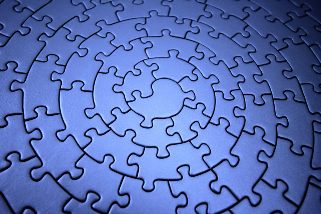 Beautiful stock photos of puzzle,  Backgrounds,  Blue Color,  Close-Up,  Complete