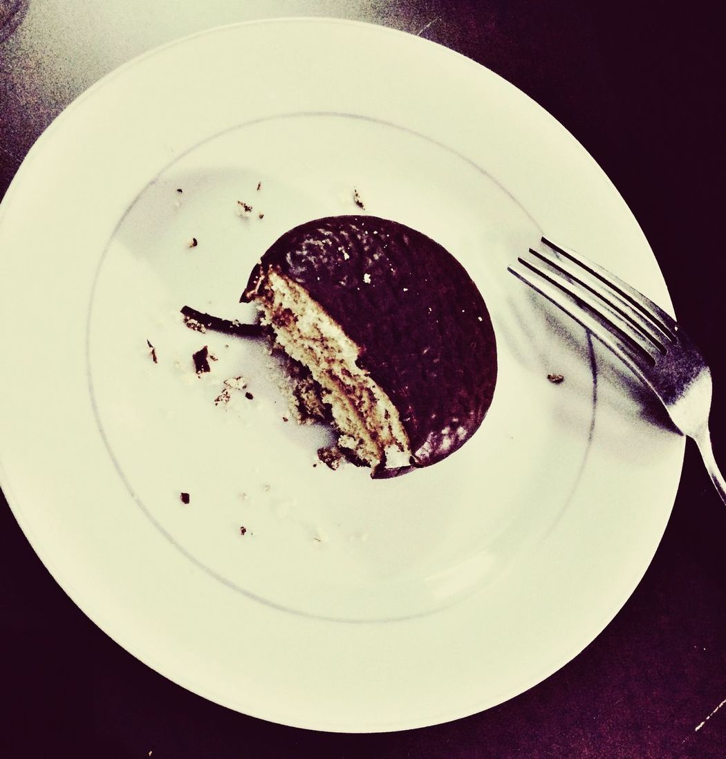 Plate Sweet Food Fork Chocopie Makeitspecial