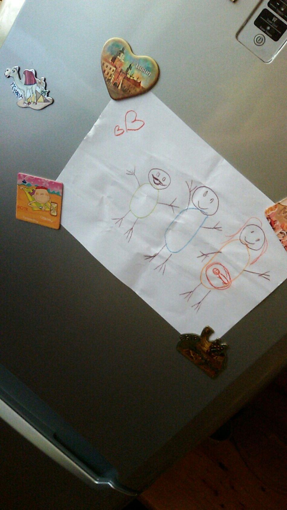 Cute Drawing Littlesister Fridge FridgeMagnets LoveMySister❤