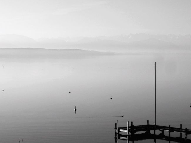 Water Tranquility Tranquil Scene Scenics Mountain Beauty In Nature Transportation Sea Lake Fog Nature Sky Non-urban Scene Foggy Mountain Range Blue In Front Of Waterfront Mist Vacations
