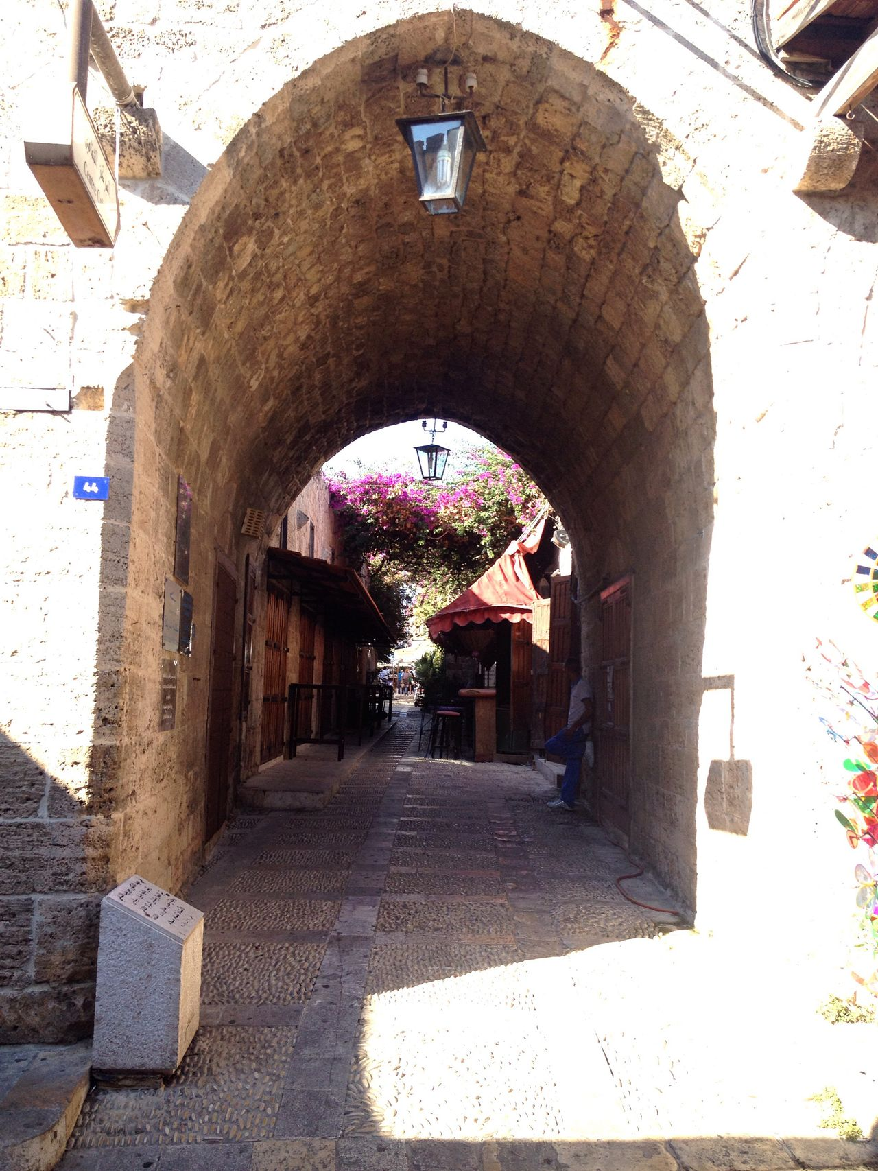 Old Structures Old Souk Byblos Lebanon East Mediterranean Light And Shadow