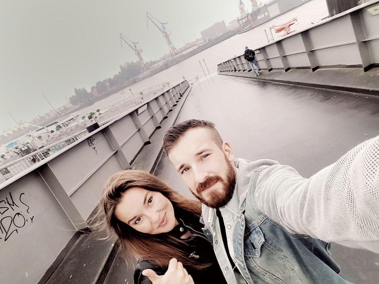 Young Adult Two People Nature Sky Russian Girl Brother & Sister Hamburger Hafen Harleydayshamburg