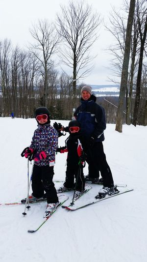 Skiing with the girls.