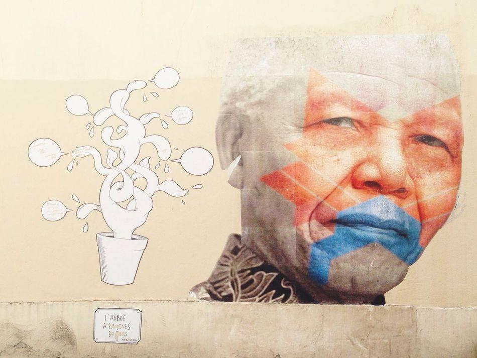 Streetart Paris Paris13 Nelsonmandela  Wall