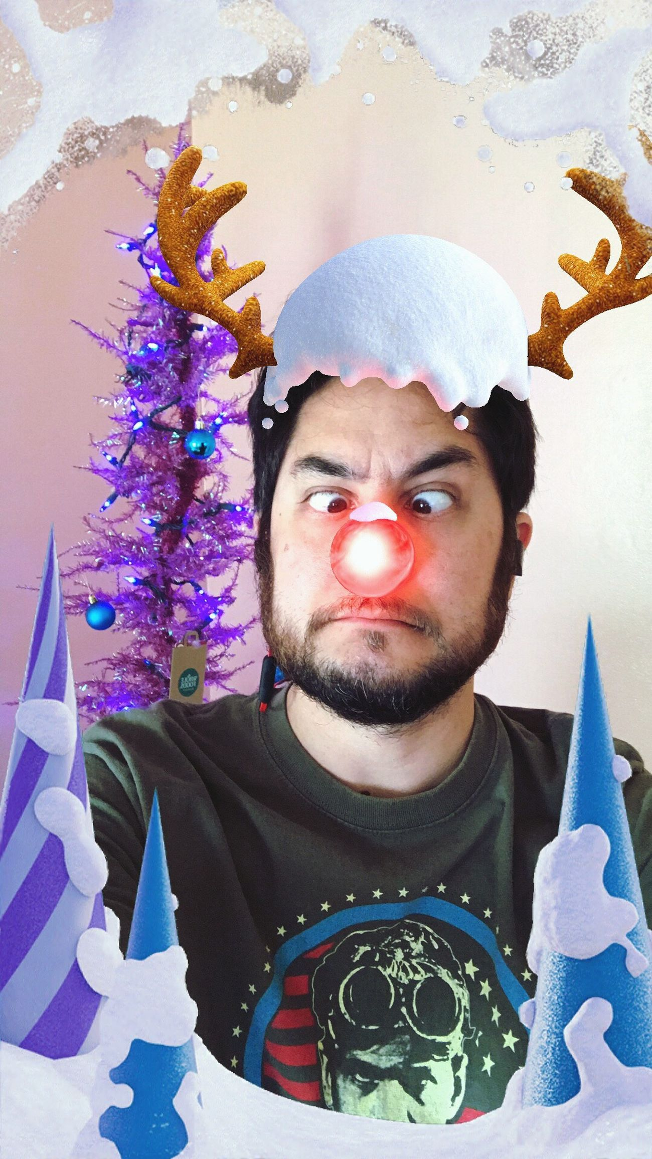 Beard Portrait Celebration Winter Wonderland Christmas Tree Holiday Red Nose Nose Being Silly Antlers Selfie ✌ That's Me! ThatsMe