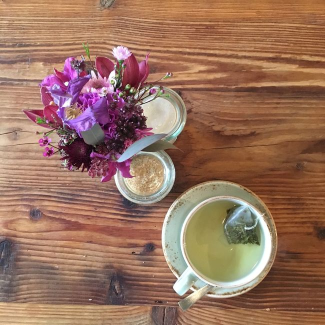 Tea Tea Time Herbal Flowers Table View From Above Cozy ShareTheMeal