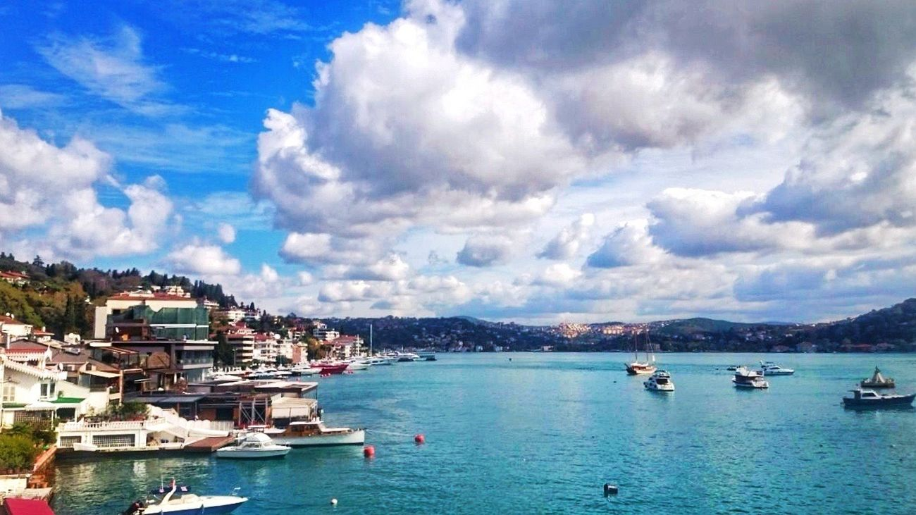 Cloud - Sky Nautical Vessel Nature Transportation Sea Sky Beauty In Nature Outdoors Scenics Day Architecture No People Water Istanbul Turkey Bebek Istanbul