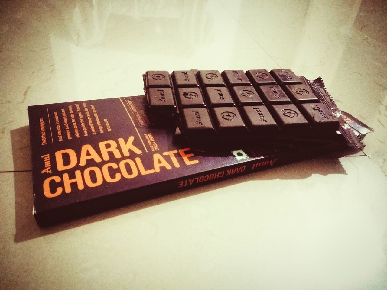 Indoors  Text No People 300th Photo! Closeup Mobile Photograpgy Indoor Photography Healthy Eating Dark Chocolate ♥ Chocolate♡ Light And Shadow Food And Drink Vintage Style Mobile Photography