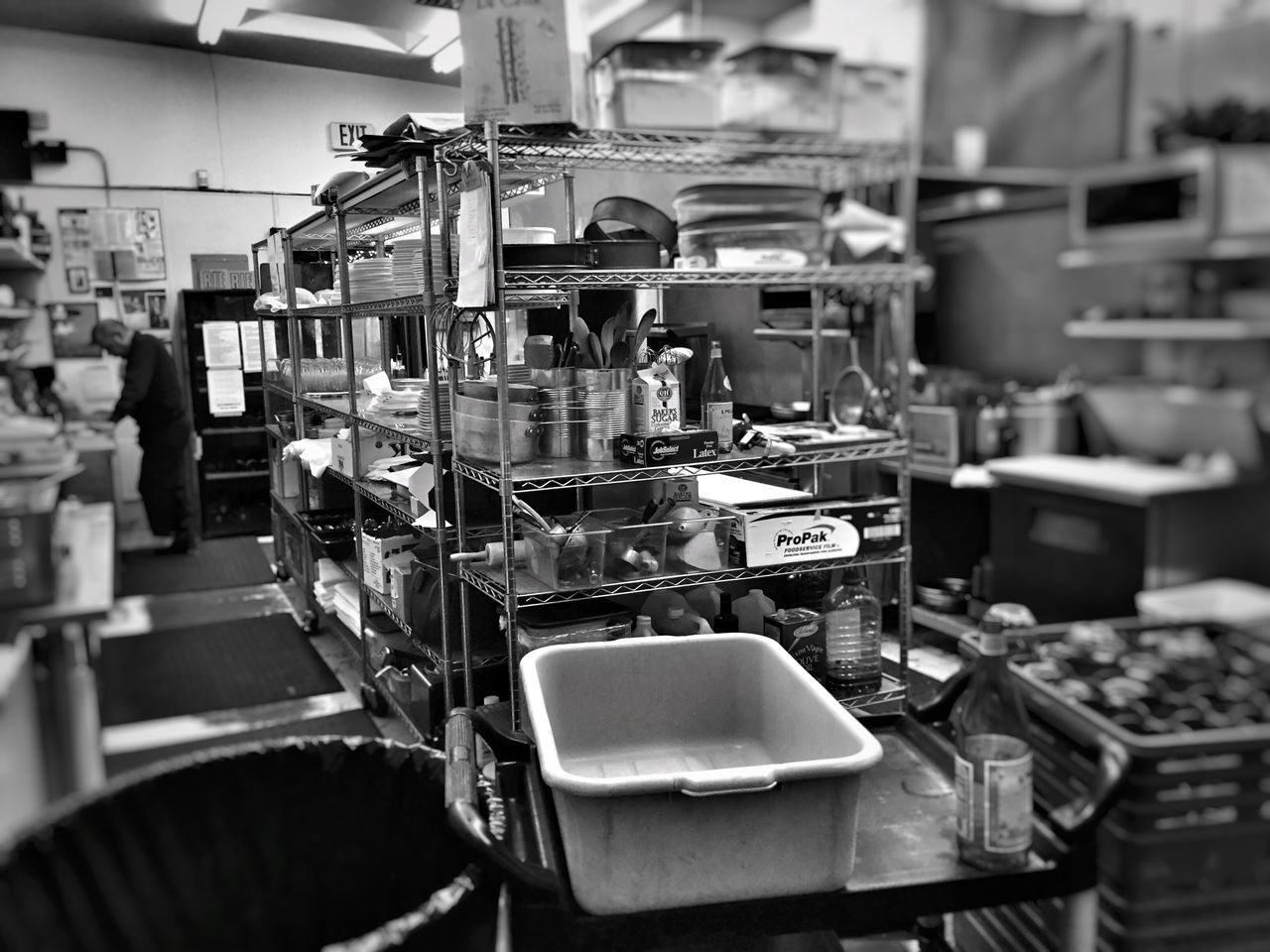The calm before the storm. Workplace Working Restaurant Restaurant Kitchen Professional Kitchen Kitchen Calm Before The Storm Dishwasher Dishwashing Dishes Dishwashing Station Food Blackandwhite Photography Black And White Black & White Composition Monochrome Blackandwhite Black And White Photography High Contrast Black&white Monochromatic Hello World Enjoying Life Taking Photos
