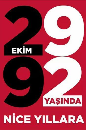 NE MUTLU TÜRKÜM DİYENE Art Atatürk Cumhuriyet Bayramı MustafaKemalAtatürk Cumhuriyet 92years