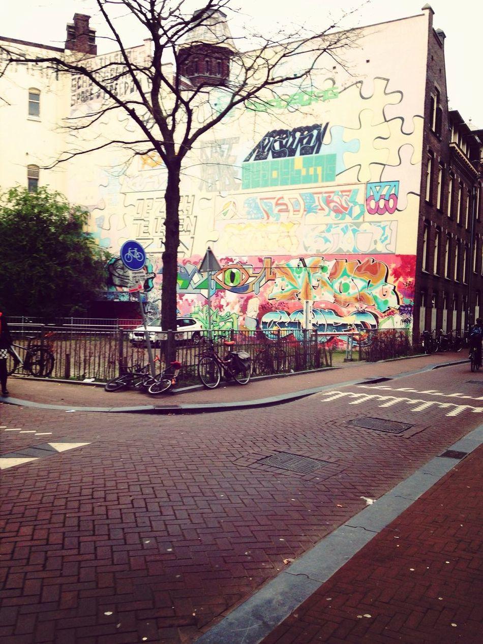 Streetart in Amsterdam Outside Outdoors