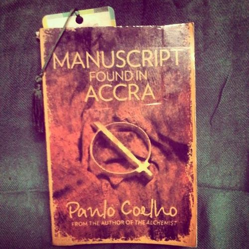 Currently Reading- Manuscript Found in Accra by Paulo Coelho. I'm buried under heaps of work right now, hence I'm unable to read it at the pace I'd like to. Looking forward to read this though. Coelho's style is beatific. Paulocoelho Manuscriptfoundinaccra Book Books Bookworm Bookporn BookLove Library Curiosa Tomes Bookstagram CurrentlyReading Reading Readabook  Read Bookstore Instabook Bookaholic Bookish Igreads Bookblogger Bookphotography Goodreads