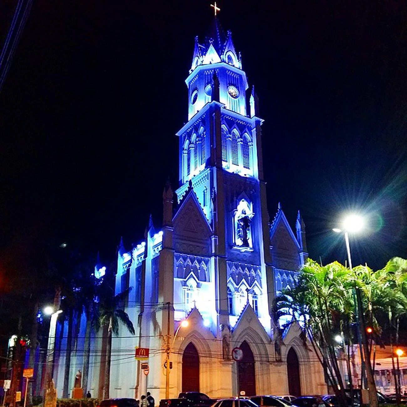 Church Temple Religion Francasp Francolandia Catedralnossasenhoradaconceicao Francacapitaldocalcado Night Light Blue Beautiful Samsungmobilecamera Galaxya5📱 SamsungGalaxyA5 Magnifier Samsungpicture Iglesia Церковь Kirche Chiesa Igrejaspelomundo