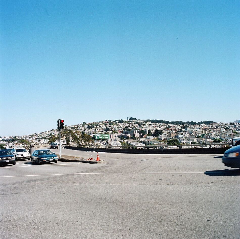 Clear Sky Car Glen Park Outdoors Real Film Hasselblad Koduckgirl