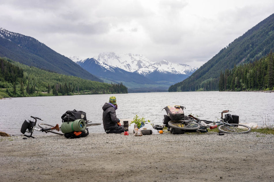 Bike Tour Biketour Campinglife Carefree Lake Lifestyles Lunch Time! Mountain Non-urban Scene Outdoors Water