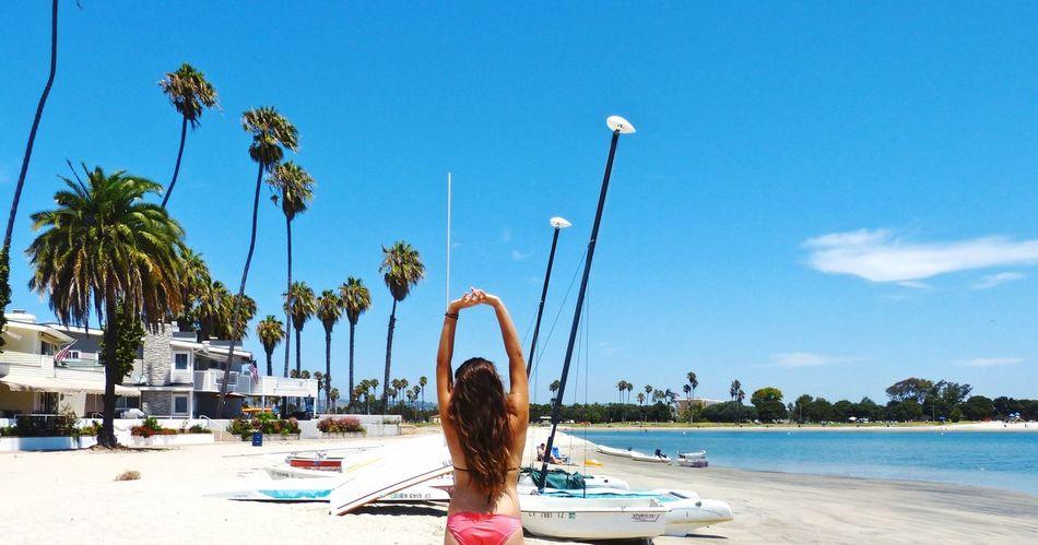Beautiful stock photos of jamaica, Arms Raised, Beach, Bikini, Day