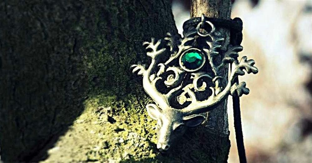 """A photo of the """"Lord of Stags"""" necklace I used to wear. Jewelry LordofStags Paganism"""