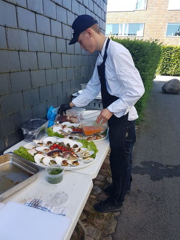 Grill Food Food And Drink Freshness Healthy Eating Day Outdoors Seafood Scallops Grilled Catering Service Catering Food Catering