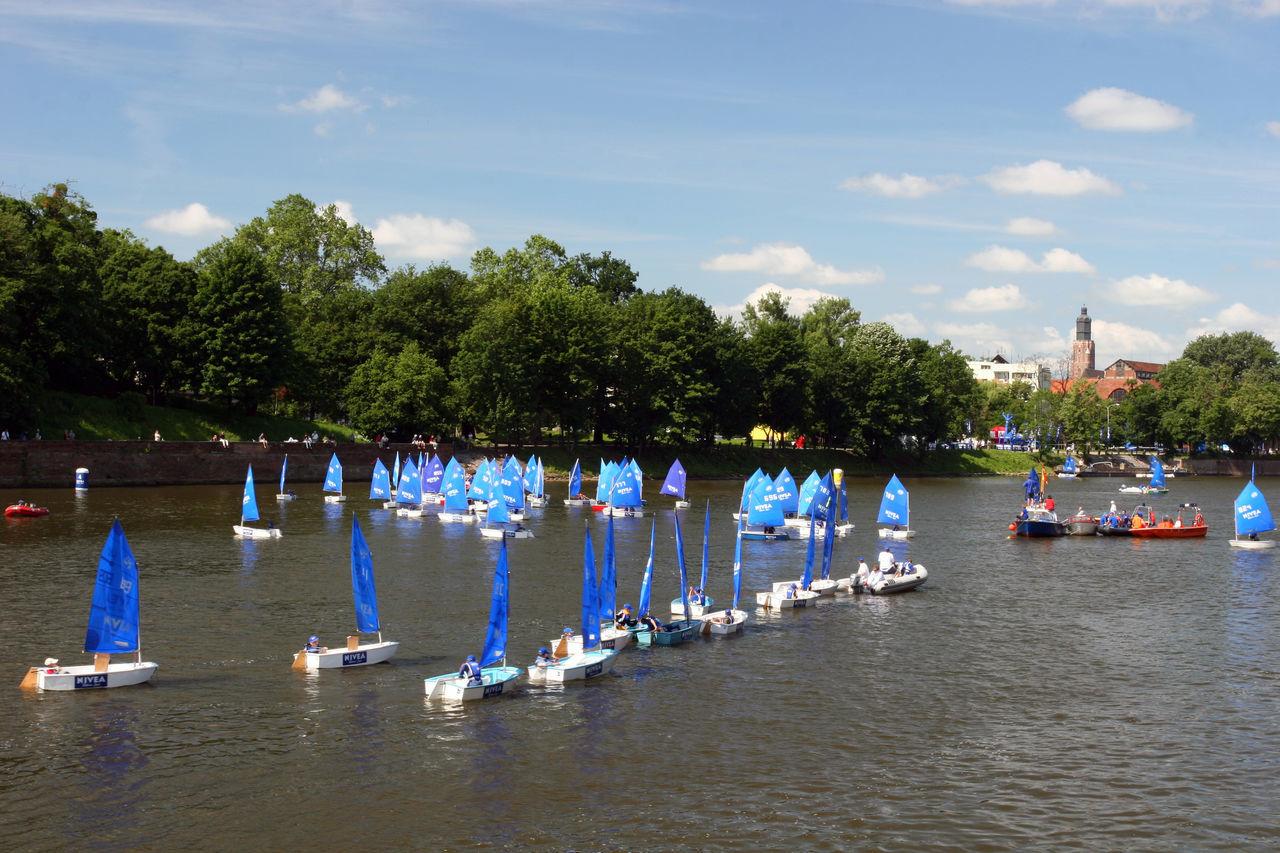 Wrocław, Breslau, Poland Blue Breslau Breslau Odra Poland Polen Regatta River Sailboat Sailing Sport Sport ın The City Water Wroclaw Wrocław Yachting