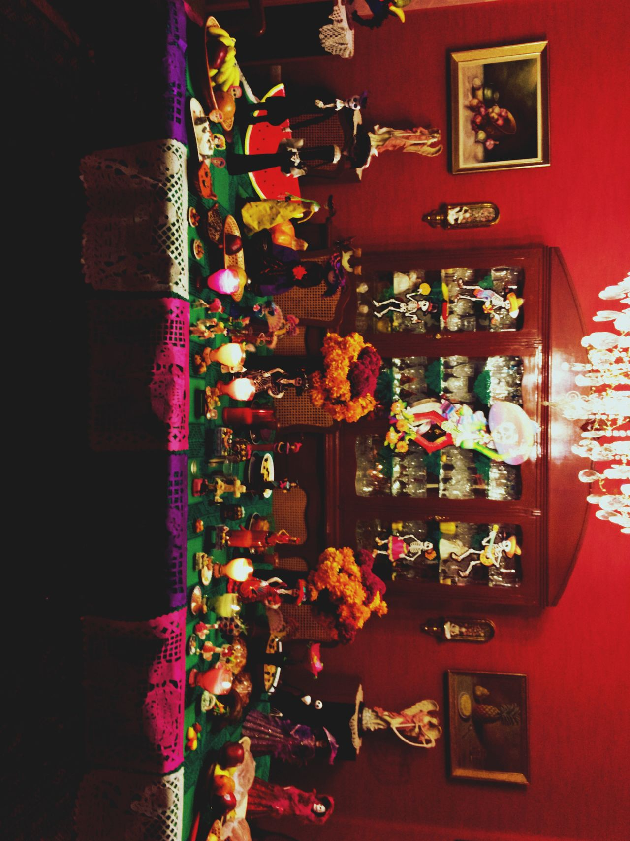 Ofrenda Flower No People Indoors  Night Illuminated Dramatic Angles AllSaintsDay