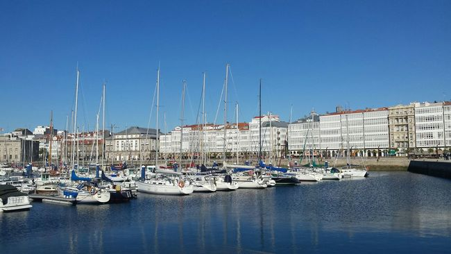 La Coruña Coruña Boats SPAIN Españoles Y Sus Fotos Relaxing Moments From Where I Stand Landscape_Collection Good Times Sea And Sky