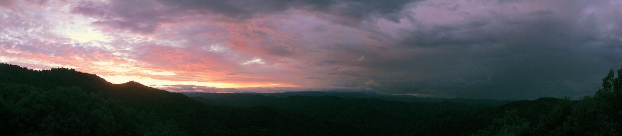 Atmosphere Atmospheric Mood Beauty In Nature Fog France Hill Horizon Over Land L'Estréchure Landscape Majestic Mountain Mountain Range Orange Sky Outdoors Panorama Provence Scenics Sky Sunset Tranquil Scene Tranquility