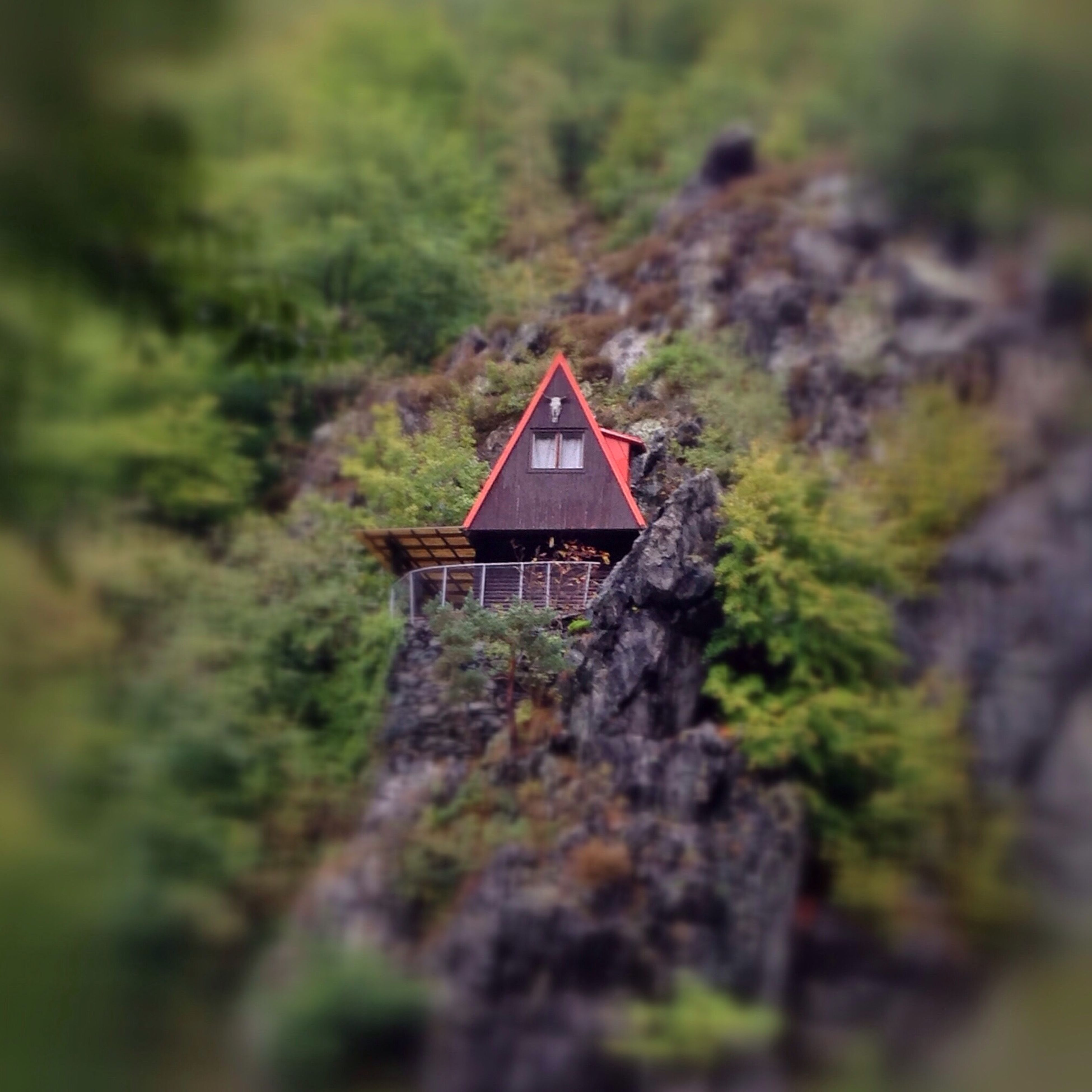 little cottage on the rock IPSTiltshift Iphoneonly Nature Czech