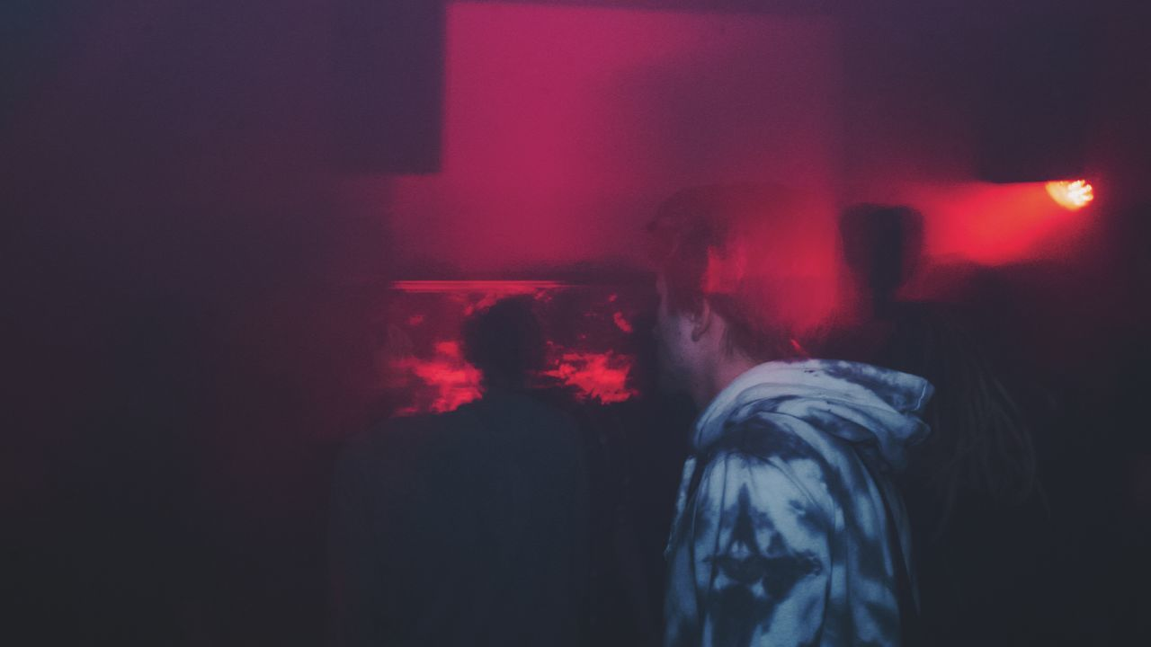 Smoke - Physical Structure Night Indoors  Red Spooky Evil Arts Culture And Entertainment One Person Adult People Adults Only Techno Music Clubbing Dancefloor Electronic Music Concert