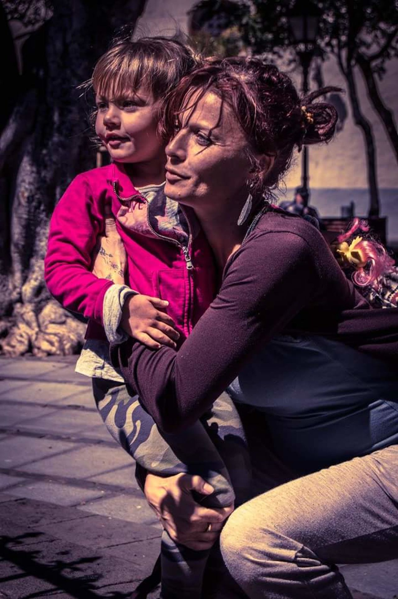 Two People City Mother & Daughter Outdoors Hugging Hugs & Love  People