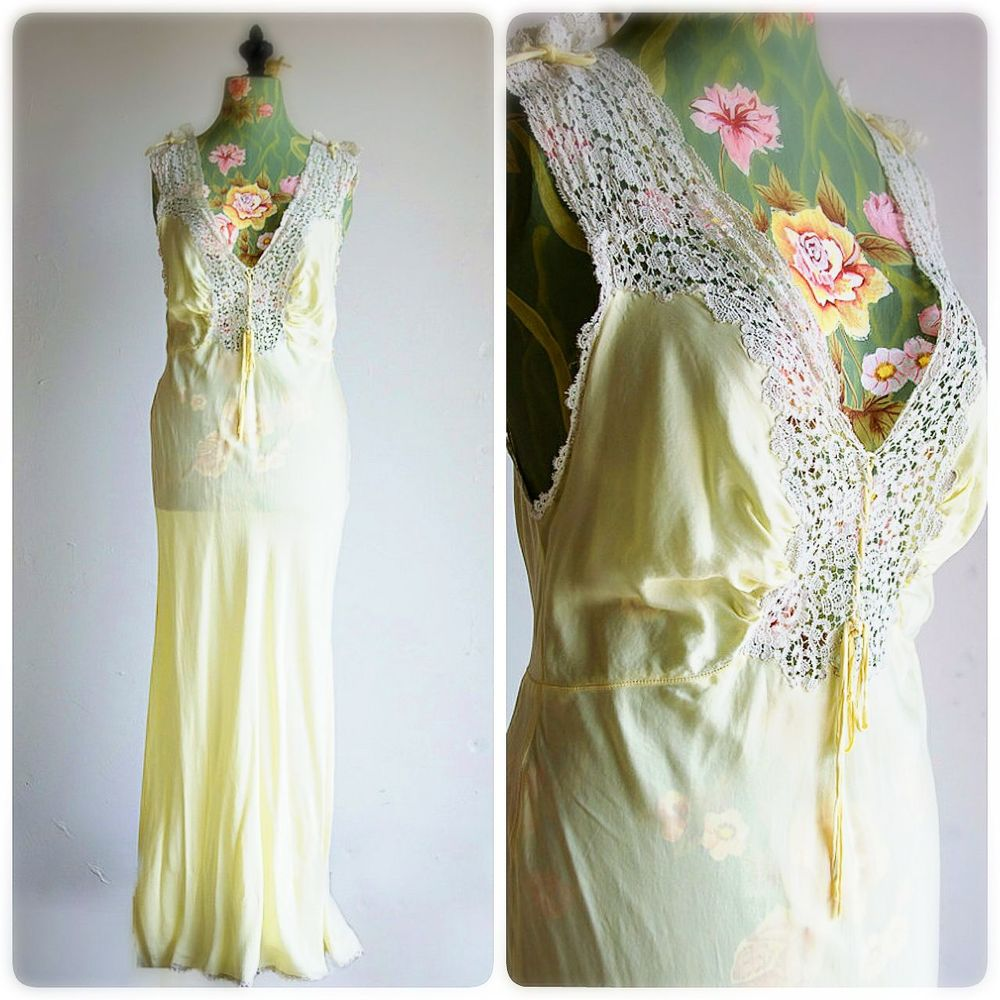 I'm in love with this 1930's vintage night gown ♡ so pretty... Vintage I Love Vintage Dreamy♡