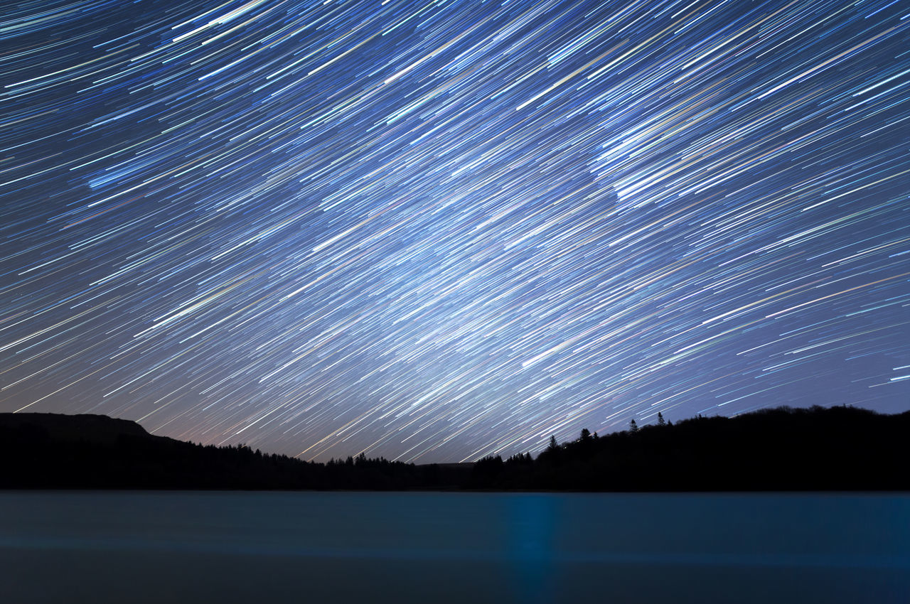 Burrator Reservoir, Dartmoor. 6D Astronomy Beauty In Nature Burrator Reservoir Canon Dartmoor Galaxy Illuminated Landscape Long Exposure Milky Way Motion Nature Night No People Outdoors Scenics Sky Space Star - Space Star Field Star Trail Startrails Tranquility Water Fresh On Market 2016