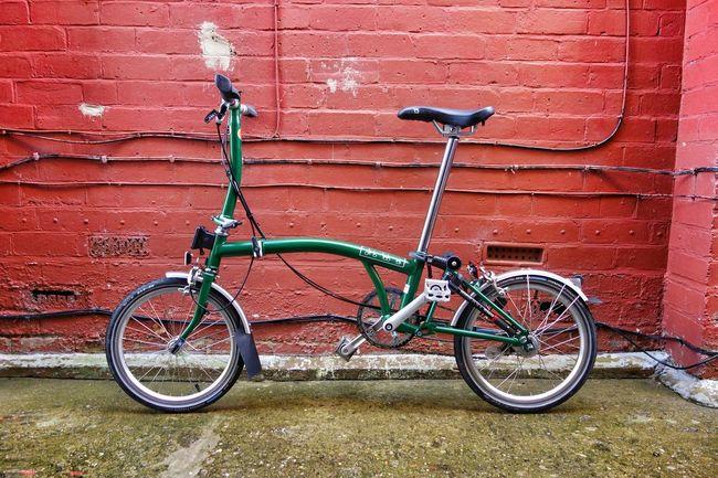 Brompton Folding Bike Foldingbike Bicycle My Bicycle Redbrick Wall Bikeporn Bici Bicicleta