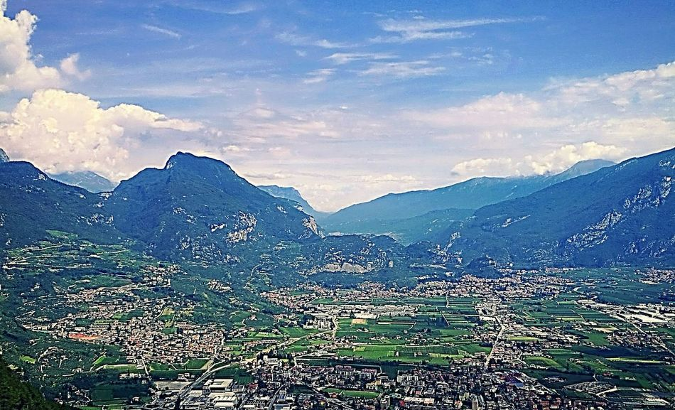 Nature Beauty In Nature Sky Mountain No People Mountain Range Outdoors Cloud - Sky Cityscape Photography Panorama View Photographie  Prospective Colour Photography Landscape Scenics Beauty In Nature Blue Italy Valley Arco (tn) Rivadelgarda Altogarda