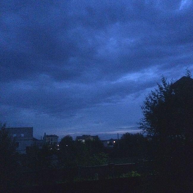 Silhouette Sky Storm Cloud Built Structure